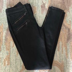 Rag & Bone RBW 23 Zip Skinny Jeans in Coated Black